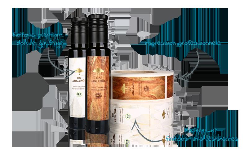 etiquette huile olive