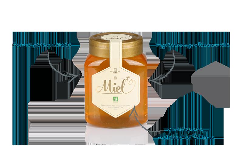 etiquette miel