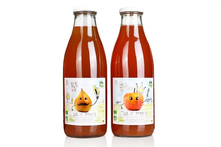 étiquette jus de fruit