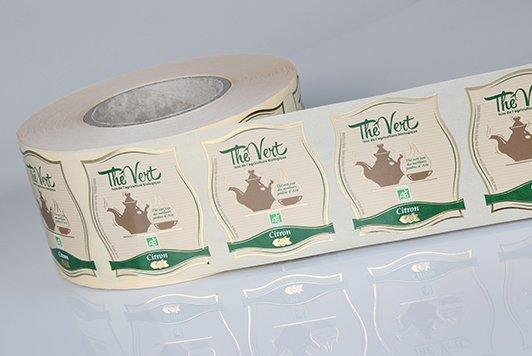 étiquette sachet de thé