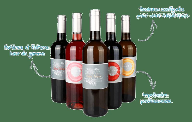 etiquette vin