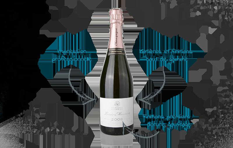 etiquette champagne