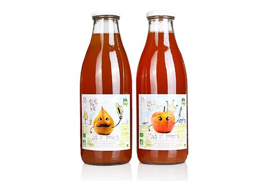 étiquettes jus de fruit