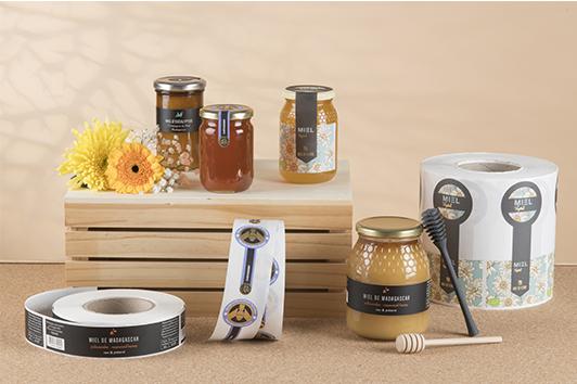 étiquettes adhésives miel