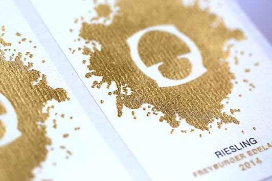 etiquette de vin or